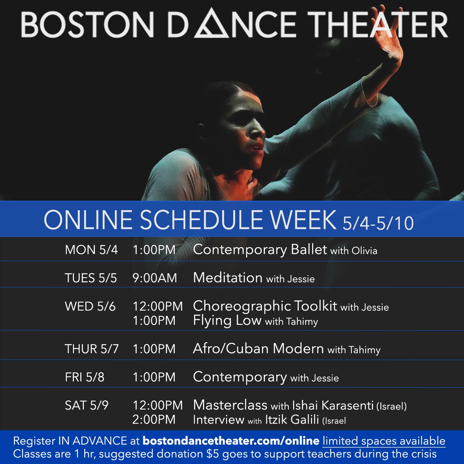 Acro/Contemporary Masterclass with Ishai Karasenti (Israel), hosted by Boston Dance Theater