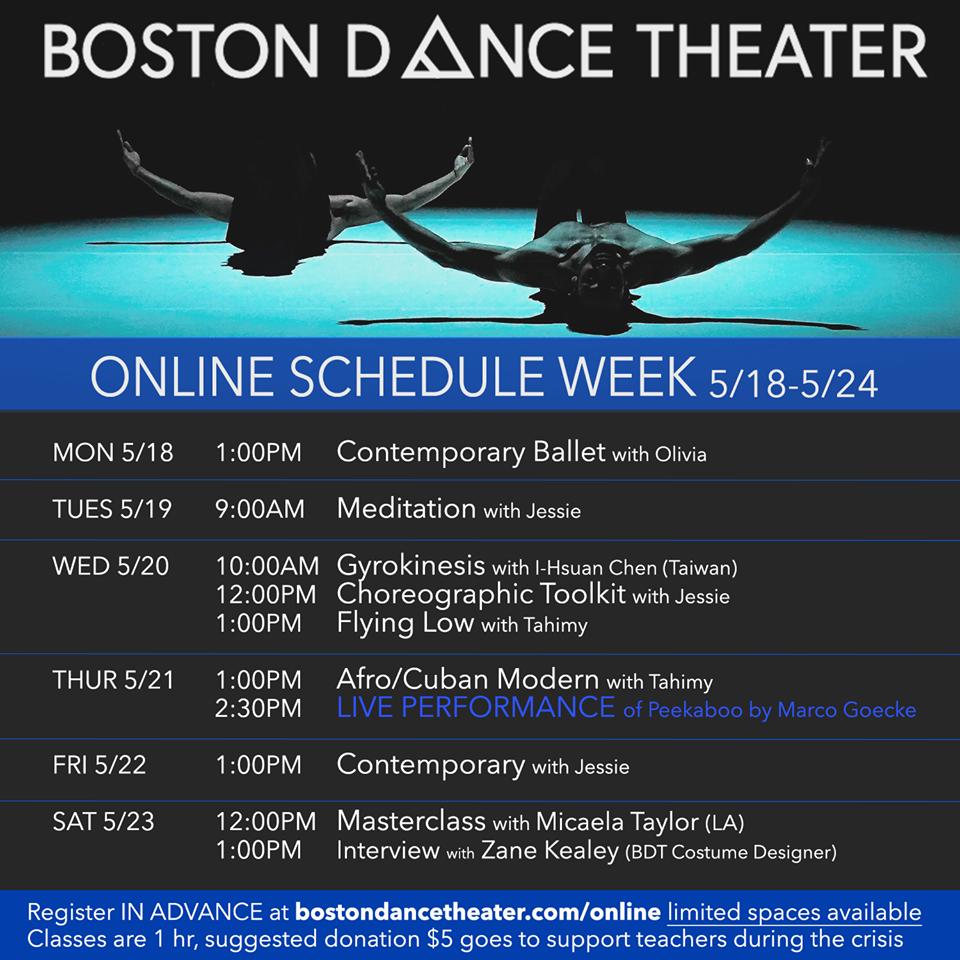 Boston Dance Theater Live Zoom Performance: Peekaboo by Marco Goecke