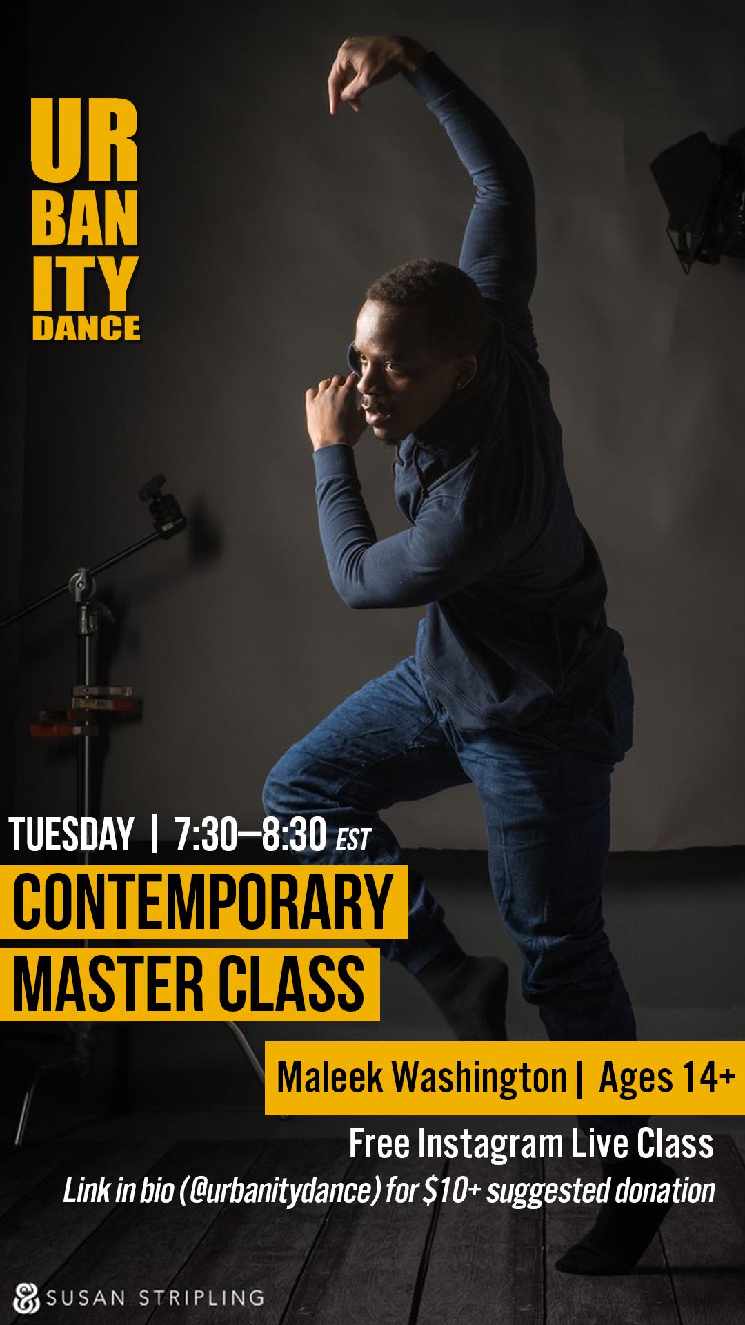 Urbanity Dance Master Class with Maleek Washington